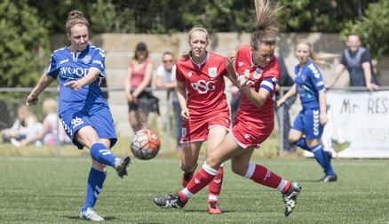 Rachel Lee in action against Bristol City