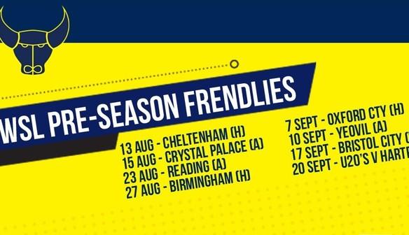 Pre-season games announced