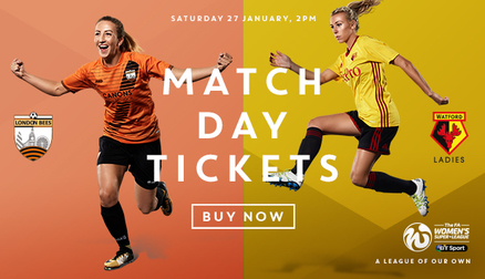 Come and watch the Bees take on local rivals Watford Ladies