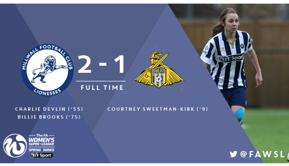 Apr 30 Millwall Lionesses 2 Doncaster Rovers Belles 1