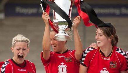 Winning the FA WPL Cup in 2013/14