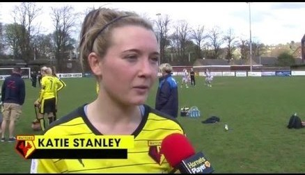Post-match: Katie Stanley speaks to Hornets PlayerHD after the Yeovil game.