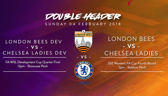 London Bees vs Chelsea Ladies Double Header – Sunday 4th February