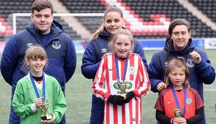 Over 400 girls have engaged with Everton's Sister Club initiative