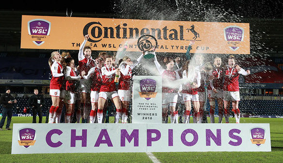 Arsenal won the Conti Cup in 2018