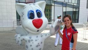 Michelle Hinnigan Uni games mascot