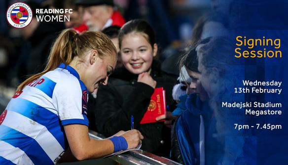 Reading FC Women megastore signing session