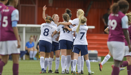 Captain fantastic: Schillaci celebrating her opener in the 1-1 draw