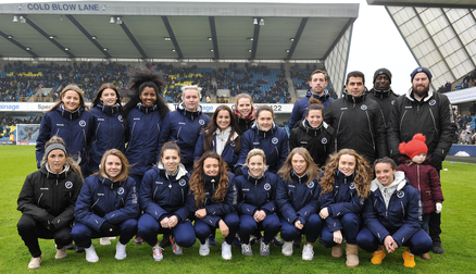 Members of the Millwall Lionesses were at The Den for Millwall vs Sunderland.