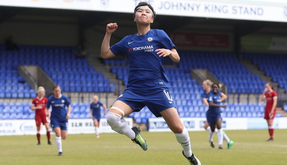 Ji So-Yun double at Liverpool ensures Chelsea go invincible