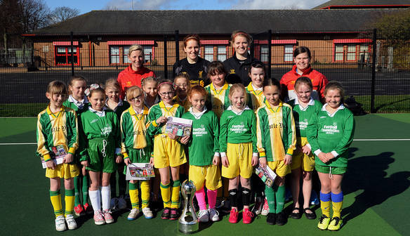 Goalkeeping duo Gibbons and Stout visit local school