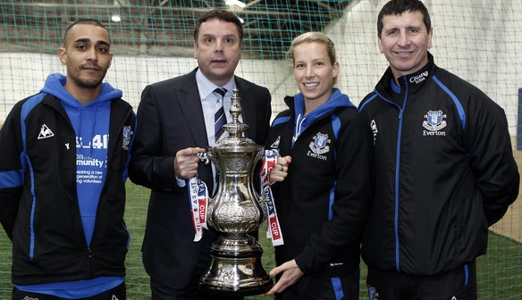 Everton Legend Graeme Sharp and Rachel Brown get involved