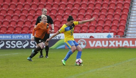 Jess Sigsworth scores from the spot vs London Bees