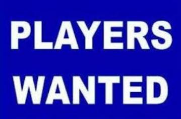 New Players Wanted for 2018/19 Season