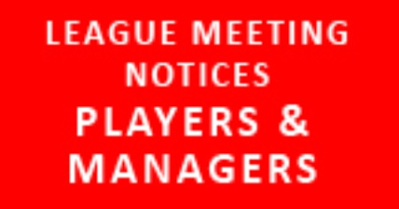 Feb 2013 - League Meeting Notices